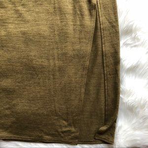 Forever 21 Long Green Maxi Skirt SzXL